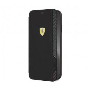 Ferrari - Pu Rubber Soft Touch Carbon iPhone XS Max - Black