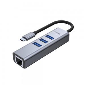 Unitek USB3.0 Type-C, 3-PORT USB,Ethernet Hub (H1904A)