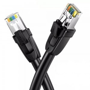 Ugreen CAT8 S/FTP Ethernet 1m Round LAN Cable - Black