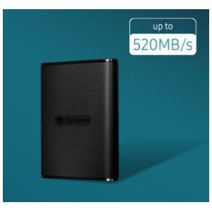 Transcend - 1 TB ESD270C USB3.1/TYPE-C OTG Portable SSD - TLC