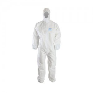Clinic Gear Disposable Coverall Suit - Small - White