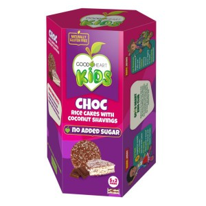 Good Heart Kids – Chocolate and Coconut Rice Cakes – 100g (Sold in minimum 30 units)