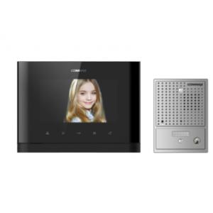 "Commax 7"" Expandable Console Vid Intercom Kit w/ Pinhole Gate Station"