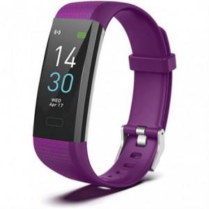 Geeko SW03 Unisex Sport Bracelet Smart Watch and Fitness Tracker - Purple