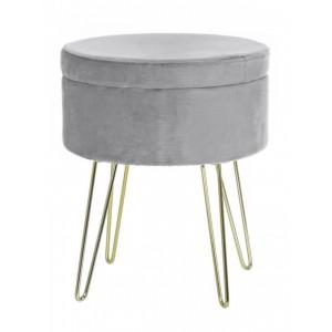 Cairo Storage Stool - Light Grey