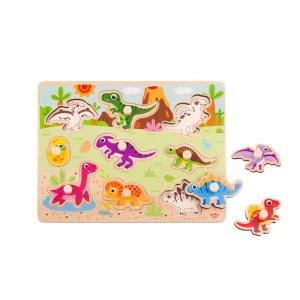 Nuovo Wooden Dinosaur Puzzle