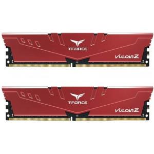 Team Group - T-Force Vulcan Z 16GB Kit (2x 8GB) DDR4-3200 CL16 DIMM Memory Module 1.35V - Red Heatsink