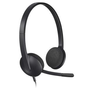 Logitech H340 USB Computer Headset - Black