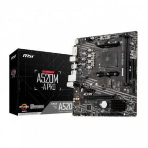 MSI A520M-A PRO AM4 mATX Motherboard – Black