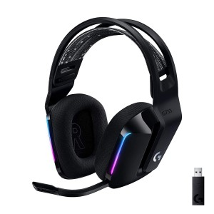 Logitech G733 Lightspeed Wireless Gaming Headset with LIGHTSYNC RGB - Black