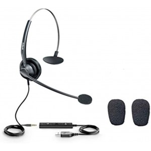 Yealink UH33 headset - USB and 3.5 mm Monaural noice cancelling headset for Yealink phones