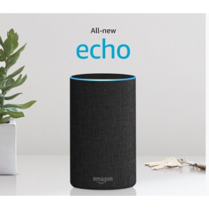 Amazon Echo Smart Speaker (2nd Generation) - Charcoal Fabric