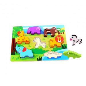 Nuovo  Wooden Chunky Puzzle - Farm