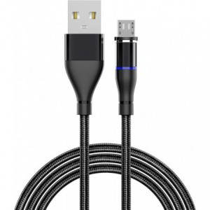 Appacs U118 Round Magnetic Charging  Micro-USB Cable - Black