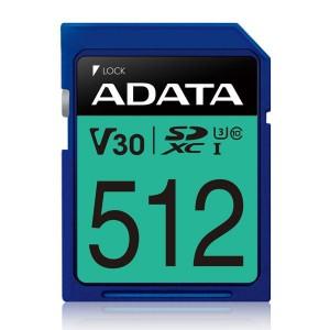 Adata Premier Pro V30S 512GB SDXC UHS-I U3 Class 10 Memory Card