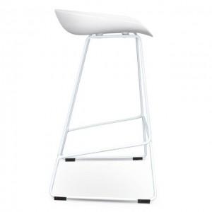 Pinnacle Bar Chair - White