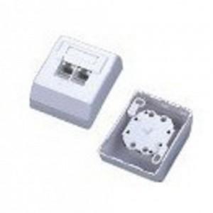 UniQue KD-WP13 UTP CAT5E Wall Mount Box W/PCB Dual Port
