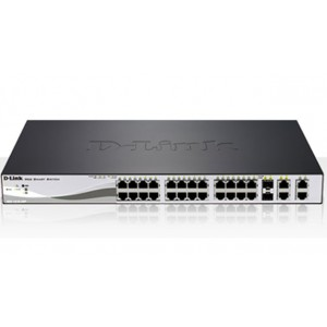 D-Link 24 Port 10/100Mbps Desktop Ethernet Swietch, 2 10/100/1000BASE-T