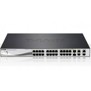 D-Link 24 Port 10/100Mbps Desktop Ethernet Swietch, 2 10/100/1000BASE-T