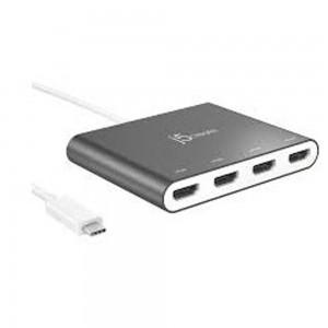 j5create - JCA366 USB-C to 4-Port HDMI Multi-Monitor Adapter