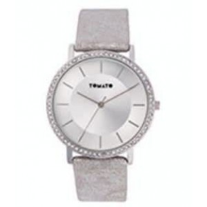 Tomato Ladies Sliver Sunray Dial Silver 40mm Case Watch