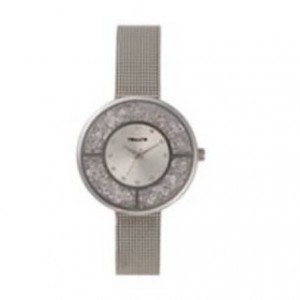 Tomato Ladies Silver + Stones Dial Silver 36mm Case SS Mesh Strap Watch