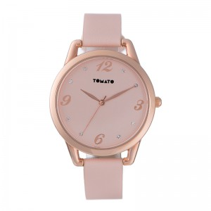 Tomato Ladies Nude + Stone Dial Rose Gold 38mm Case Nude Strap Watch