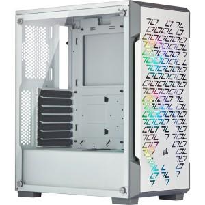 Corsair Graphite Series 220T RGB White - Frameless Tempered Glass Chassis