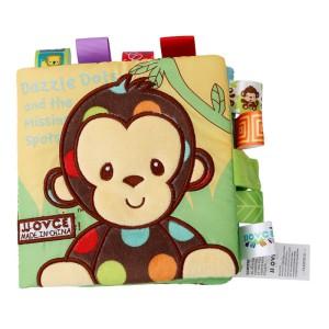 Nouvo Interactive Baby Fabric Book Monkey
