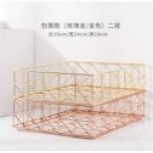 Fine Living Contour Wire File Organizer  - Gold