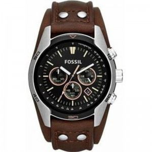 Fossil Men's Coachman Quartz Stainless Steel and Leather Watch (Parallel Import) - Brown
