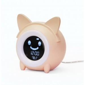 Children Sleep Training Clock - Cat Pink