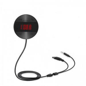 SoundBot SB361 FM Radio Transmitter 4.1 Wireless Receiver- Black