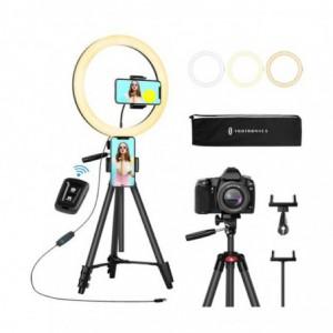 Taotronics TT-CL027 12 Selfie Ring Light with 3 Colour Modes - Black