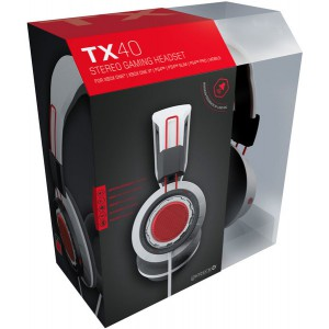 Gioteck TX-40 Multi Platform Stereo Gaming Headset - White/Black (Xbox One/PS4/Mobile)