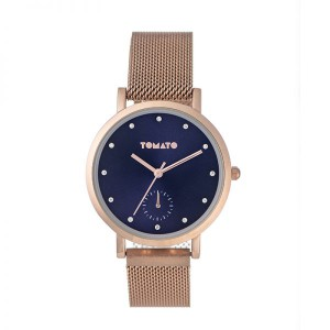 Tomato Ladies Navy Dial Rosegold Case 36mm Watch