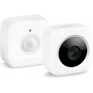 SwitchBot 1080P Security Indoor Camera Bundle with Motion Sensor for Baby Monitoring