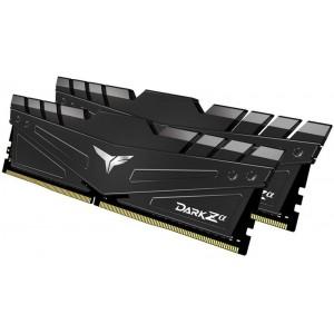 Team Group - T-Force Dark Zα 16GB Kit (2x 8GB) DDR4-3600 CL18 DIMM Memory Module 1.35V - Black Heatsink