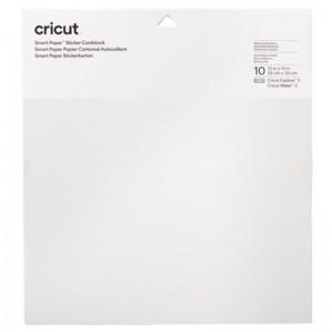 Cricut 2008317 Smart Sticker Cardstock 33x33cm 10 Sheets - White