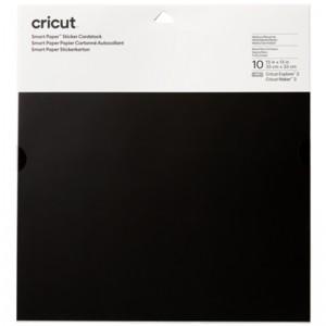 Cricut 2008316 Smart Sticker Cardstock 33x33cm 10 Sheets - Black