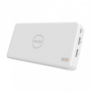 Romoss Pulse 20 20000mAh Input: Micro USB 5V 2.1A Output: 1 x USB 5V 2.1A 1 x USB 5V 1A Power Bank – White