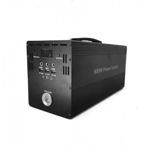 Portable 600W Li-ion Battery Power Inverter Kit - Pure Sine Wave (580WH) Output 5V/12V/19V / 220V AC - DEMO