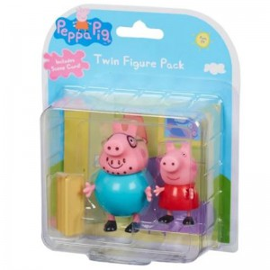 Peppa Pig 2 Pack Figures - Peppa and Daddy Pig