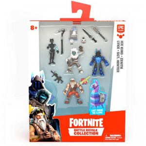 Fortnite Figure Squad Pack - Wave 4/5 - Ice King & Zenith & Lynx & SGT. Winter