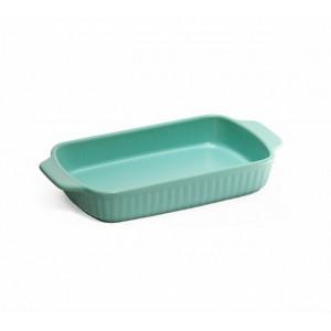 Fine Living Rectangular Ceramic Dish - Blue