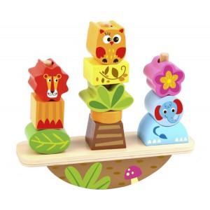 Nuovo Wooden Balance Stacker - Animals