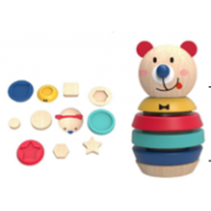 Nuovo Wooden Bear Shape Tower