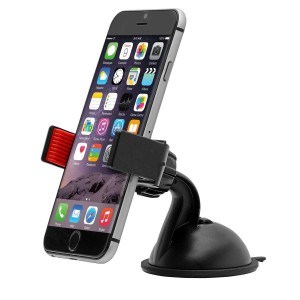 Universal Dashboard Windshield Car Mount Holder - Black