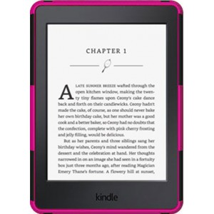 Kindle Paperwhite 2015 Cover Case - Heavy Duty Rugged Dual Layer with Kickstand - Pink
