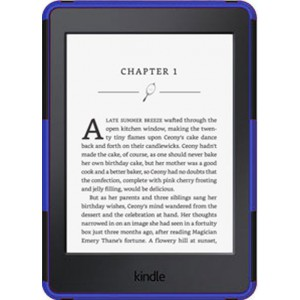 Kindle Paperwhite 2015 Cover Case - Heavy Duty Rugged Dual Layer with Kickstand - Blue
